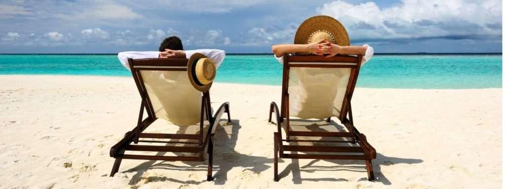 couple enjoying in beach