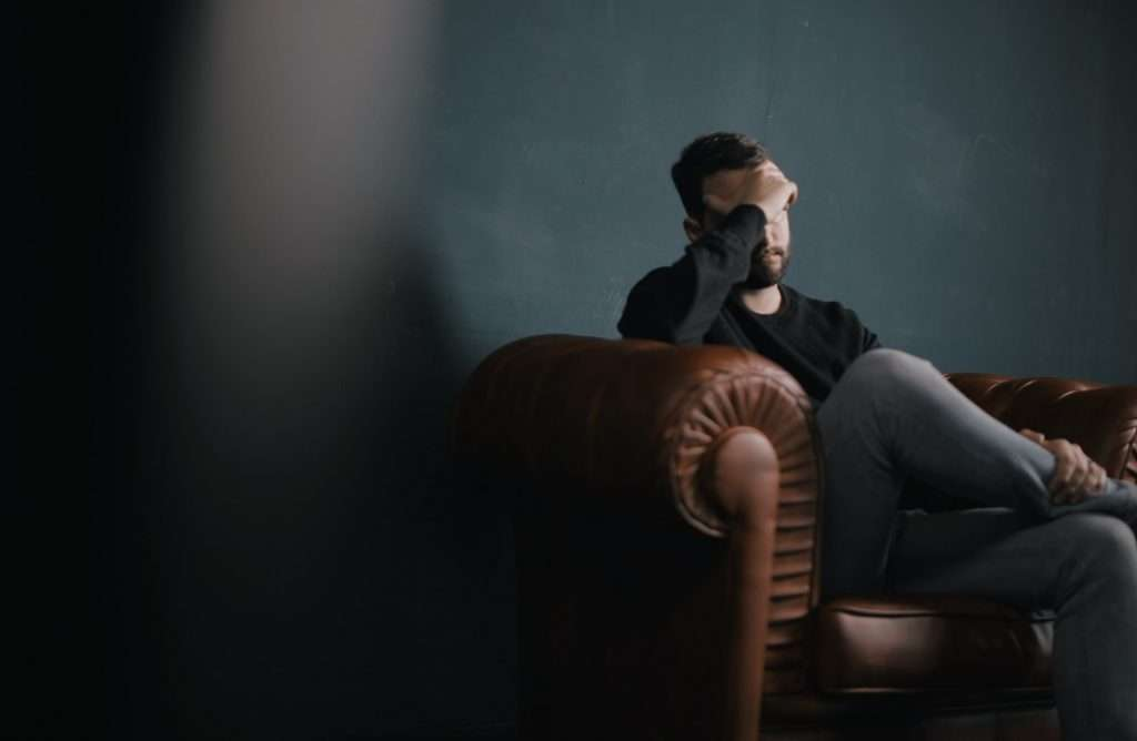 Men in a Anxiety or stress